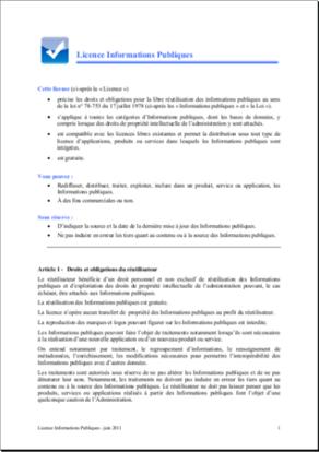 Licence APIE V2