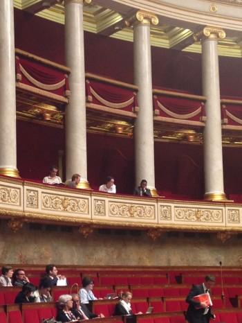 Regards Citoyens dans les tribunes de l'hémicycle